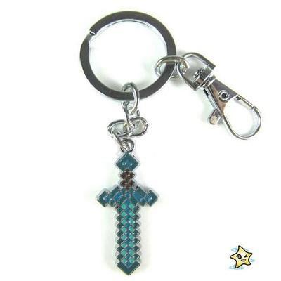 ~酷伯先生~Minecraft 創世神麥塊鑽石劍鑰匙圈藍劍鑰匙扣~ ~