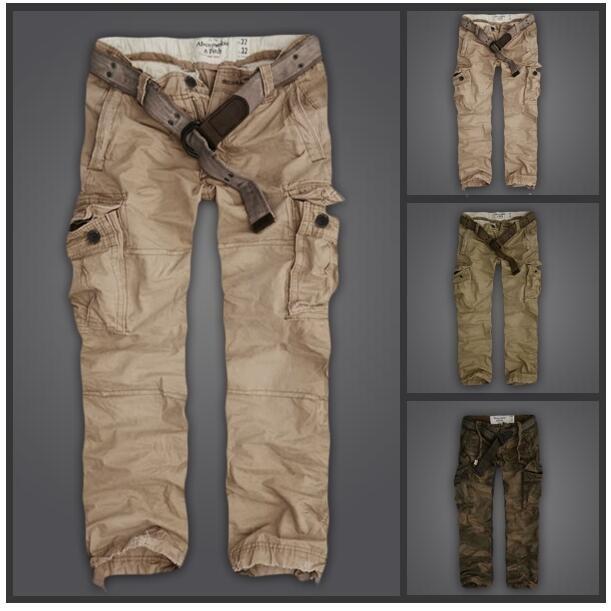 Abercrombie and Fitch A F 型男 原單高 款有腰帶休閒長褲 AF