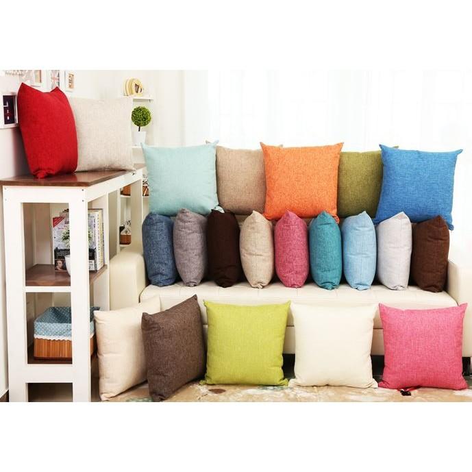 日式風格亞麻素面抱枕套不含枕芯本賣場有另售 枕芯