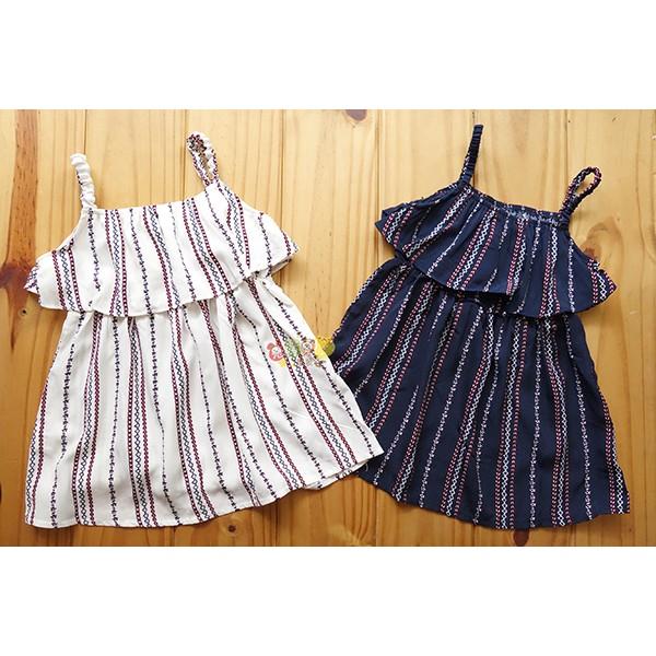 57279 中小童5 15 號純棉民族風細肩帶荷葉邊洋裝