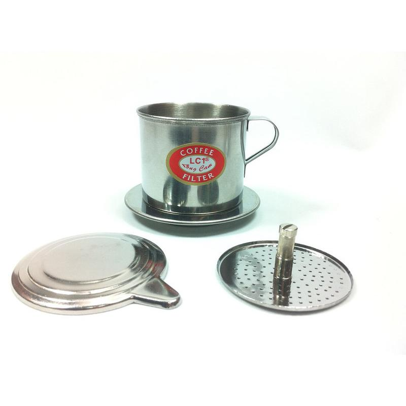 LC 越南咖啡壺煮咖啡過濾杯小號可調旋轉壓片不鏽鋼免濾紙滴滴壺滴漏壺