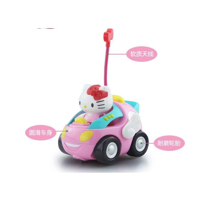 敲可愛女孩的遙控汽車Hello Kitty 遙控小汽車藍黃二色 出