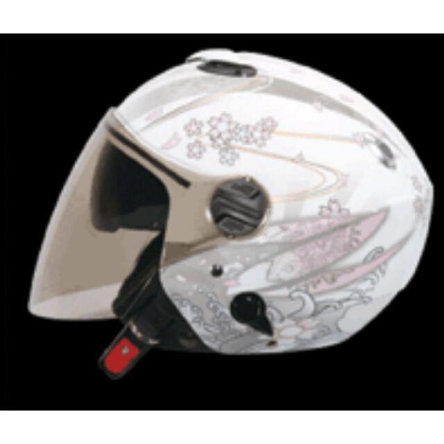 ZEUS ZS 202FB 白底T41 粉紅~內藏式遮陽鏡片機構內襯全可拆洗