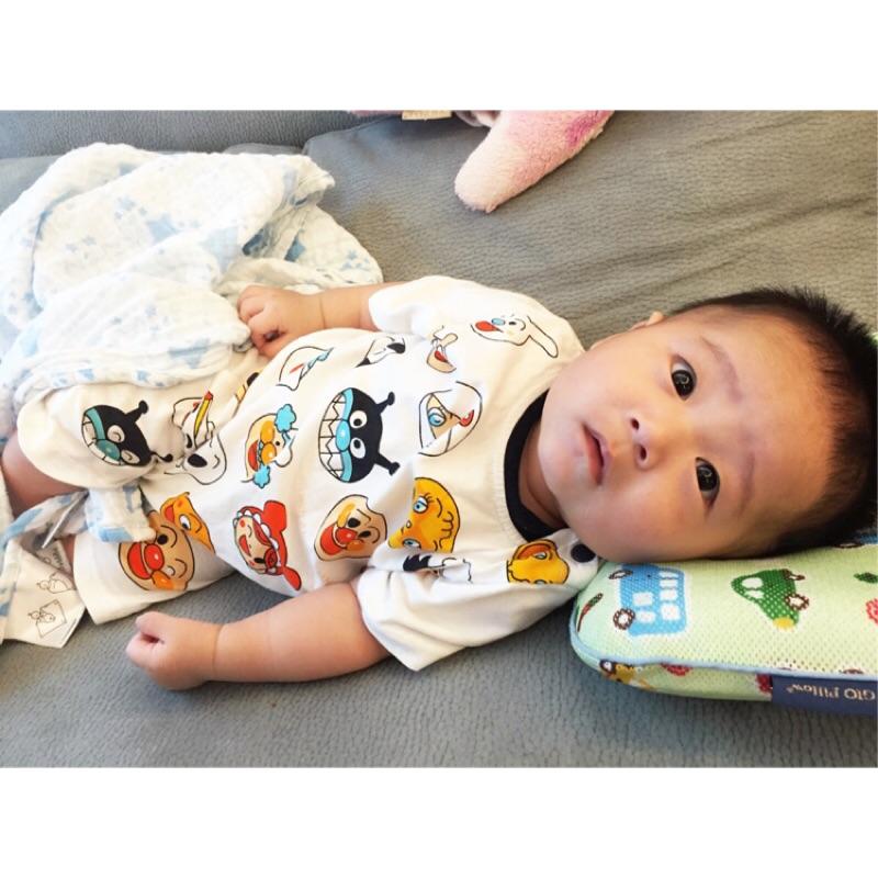 麵包超人baby 嬰幼兒 男童短袖哈衣2016 夏裝 卡通連體衣滿月服0 3 歲