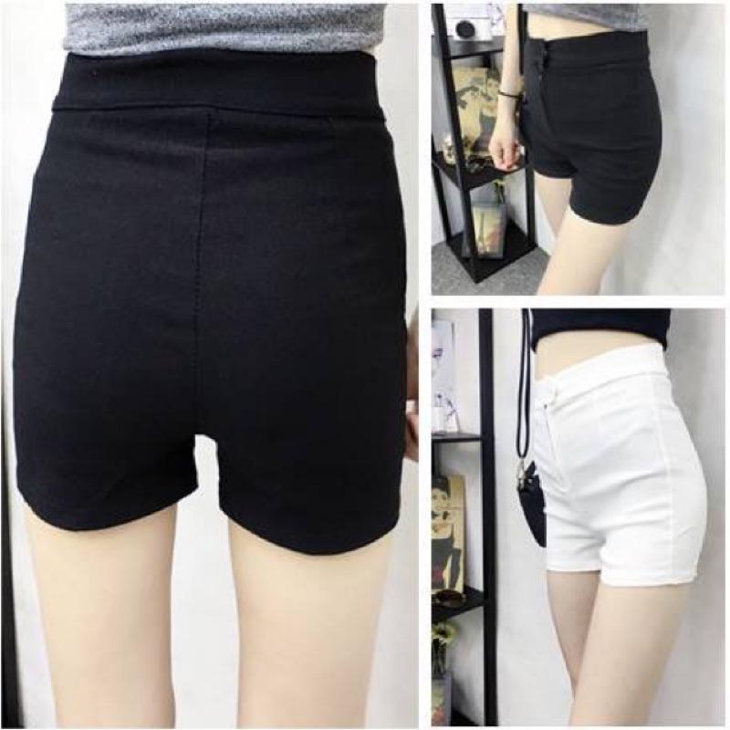 韓國純色超彈力高腰修身熱褲超顯瘦休閒短褲