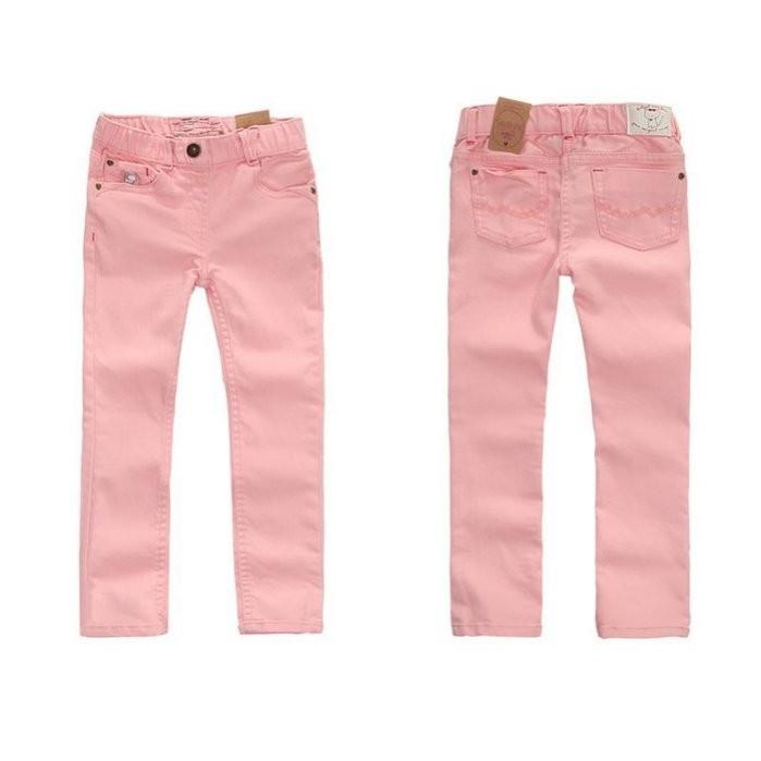 媽咪樂歐單粉紅鉛筆彈力牛仔長褲牛仔褲2 3 4 5 6 10 12t 小中大童
