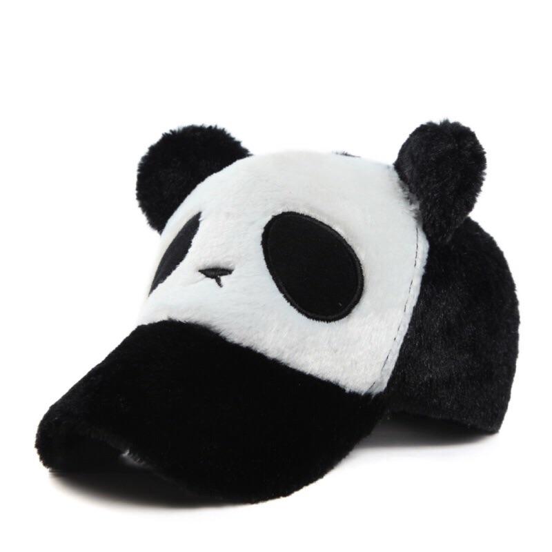 [Dorara ] 保暖帽卡通熊貓帽男女 大小同款棒球帽親子帽子
