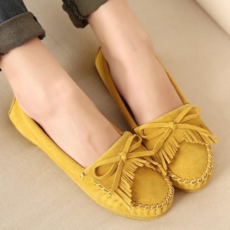豆豆鞋女鞋平底鞋流蘇須須柔軟豆豆鞋