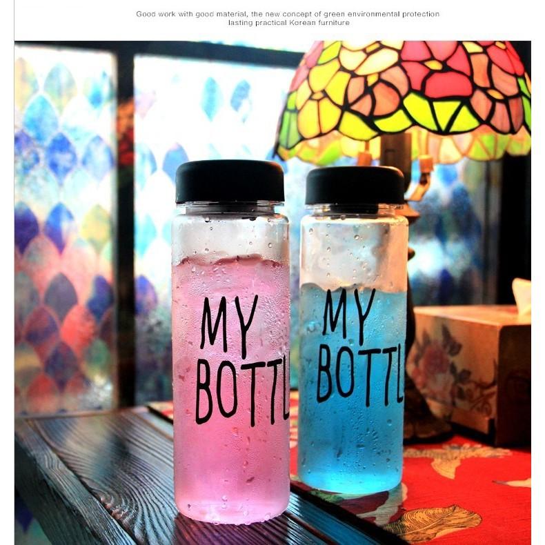my bottle 水瓶水杯塑膠隨行杯子韓國學生 便攜帶蓋防漏隨手杯