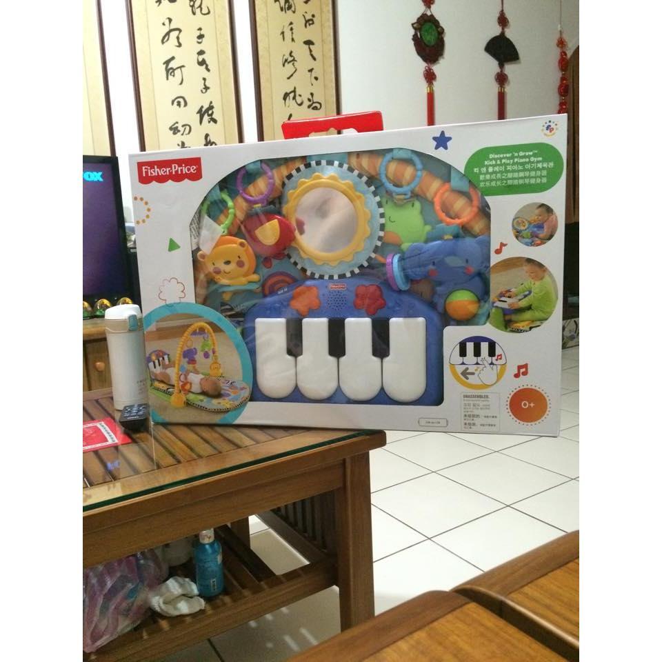 限定活動至01 25 費雪Fisher Price 三合一遊戲墊踢踢腳鋼琴健力架玩具健身架