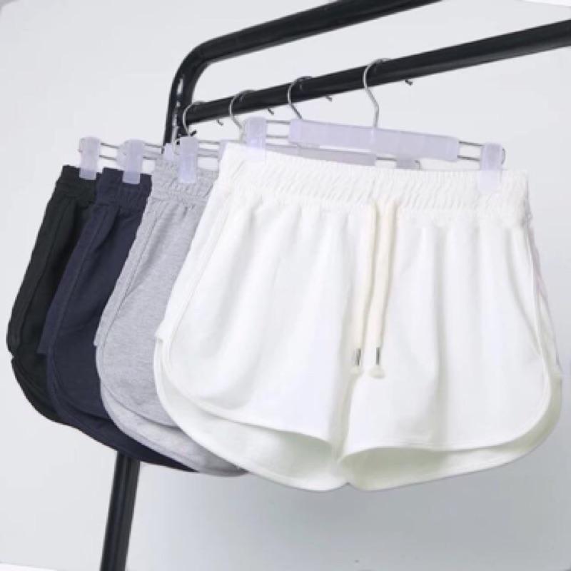 100 純棉 睡褲跑步 短褲女 純棉休閒家居短褲闊腿褲寬鬆睡褲女