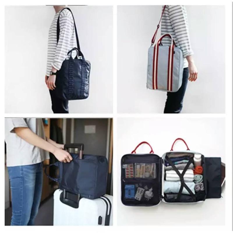 拉桿行李袋 拉桿登機行李袋拉桿包登機包旅行登機包行李袋行李箱三用旅行袋分類袋