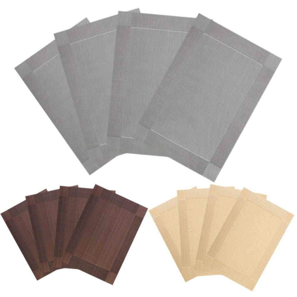 餐墊PVC 防滑隔熱歐式PVC 餐桌墊免洗環保盤碗碟西餐墊雙色四片一賣