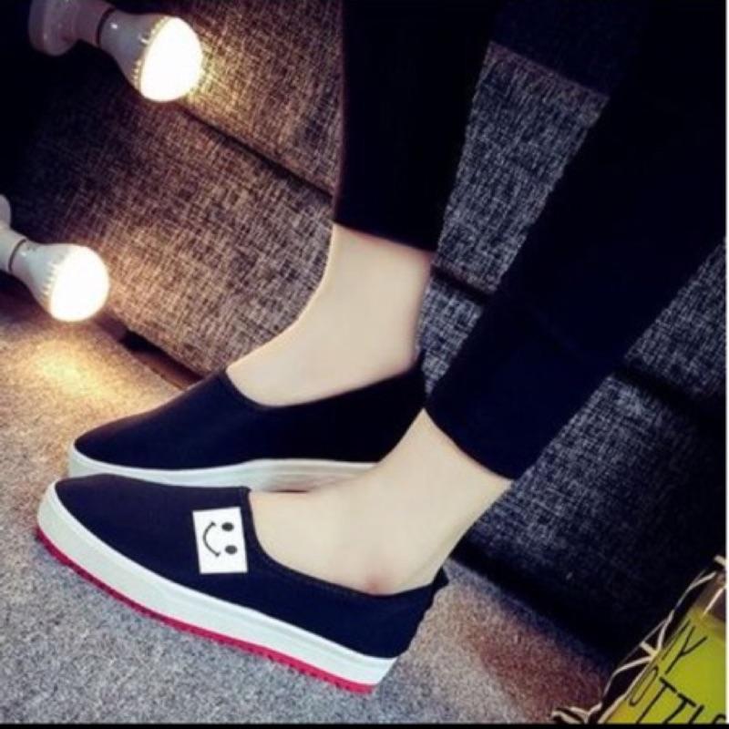 9 1 帆布鞋休閒鞋懶人鞋樂福鞋厚底板鞋黑色39