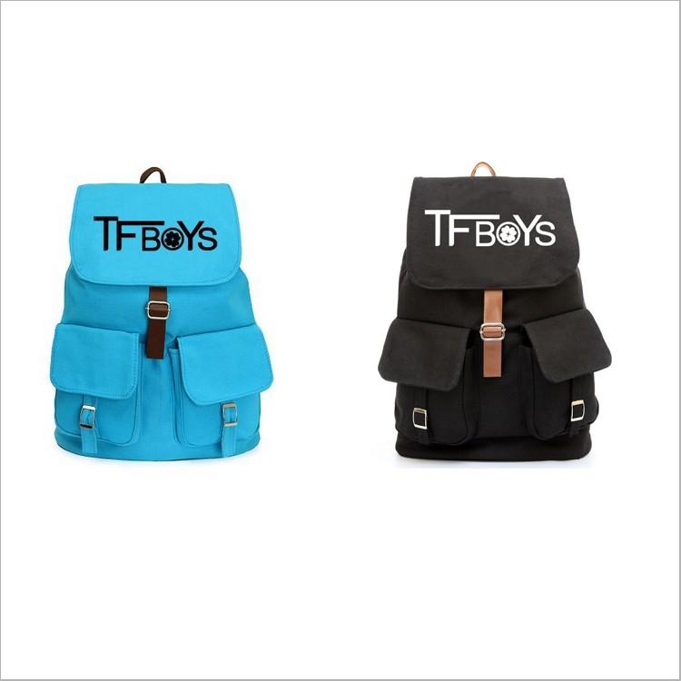東大 G12 TFBOYS 2014 背包帆布包 休閒帆布抽帶書包雙肩包