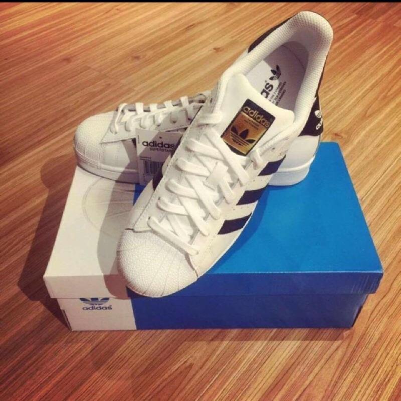 女生尺寸直購~Adidas Original Superstar 白黑金標白金C77154