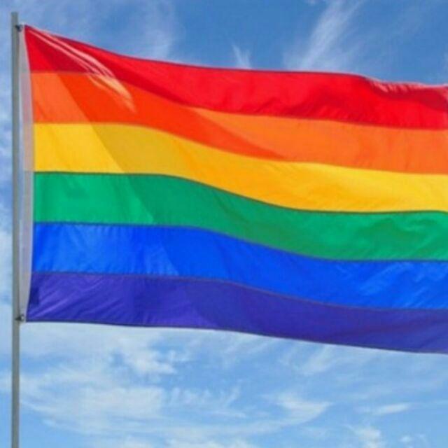大面彩虹旗150 90 彩虹披風彩虹旗婚姻平權同志遊行彩虹絲帶彩虹手環彩虹護腕彩虹徽章