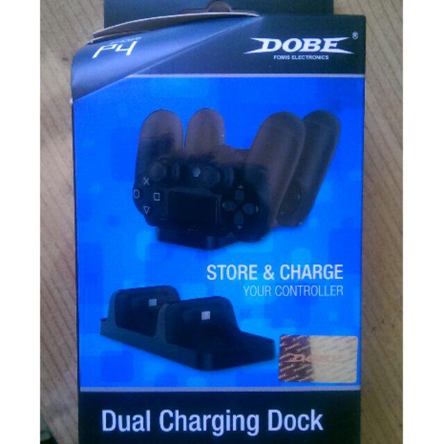 PS4 Dobe 副廠雙手把充電座 中可直接