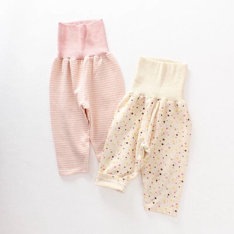 ~ ~ 西松屋原單寶寶空氣層有機純棉柔軟舒適居家服長褲睡褲高腰護肚褲腹卷褲