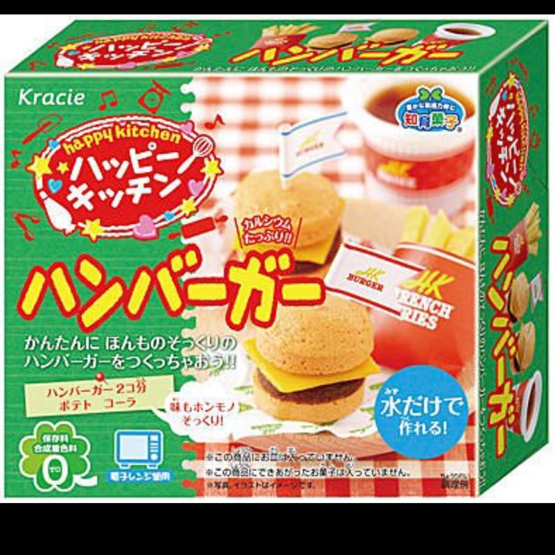 Kracie popin cookin DIY 知育果子知育菓子漢堡套餐(需微波爐)