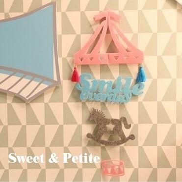 PR341 ❤微笑木馬快樂熊熊愛麗絲仙境兔~不織布立體掛飾❤DIY 材料包