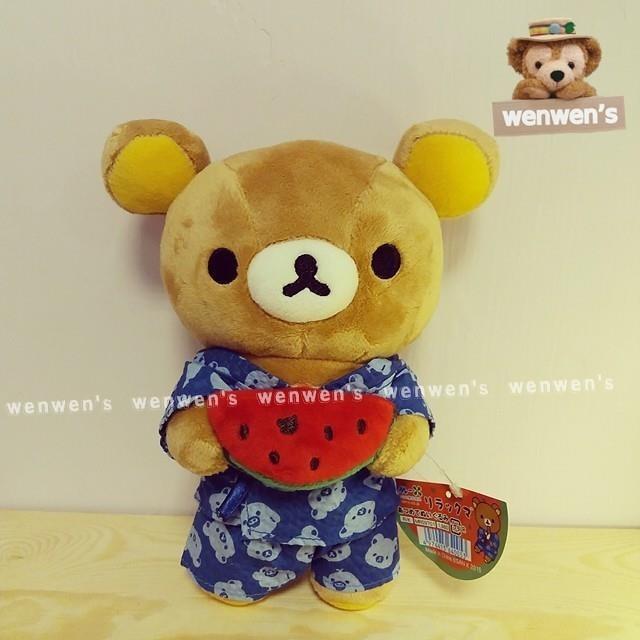~Wenwens ~ 帶回San x RILAKKUMA 懶懶熊拉拉熊懶熊夏祭西瓜 絨毛娃