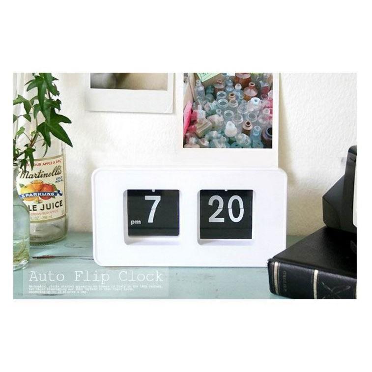 韓國翻頁鐘簡約 學生鐘錶方形 數字鬧鐘多色方塊鐘