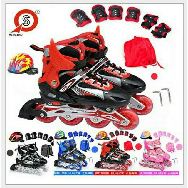 少量 可調節兒童直排輪溜冰鞋大人也可穿戶外 暑假