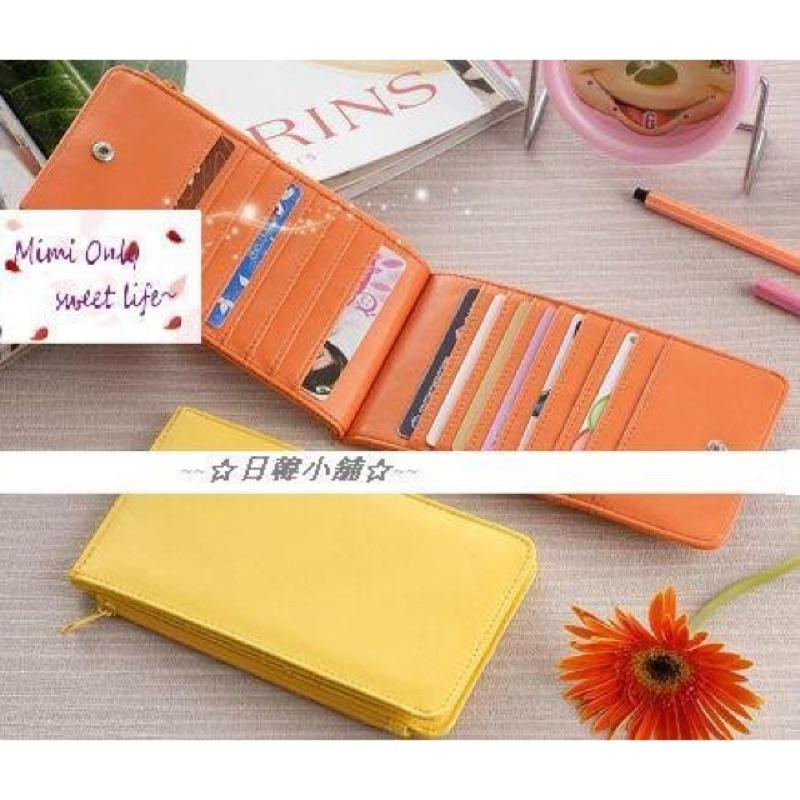 二折鈕扣男女長款卡包錢包卡片收集包卡片收納夾12 色
