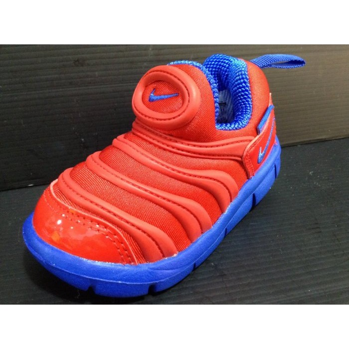 Nike 兒童中童毛毛蟲鞋帥氣超人專屬色寬楦透氣免綁鞋帶直接穿脫17cm 22cm