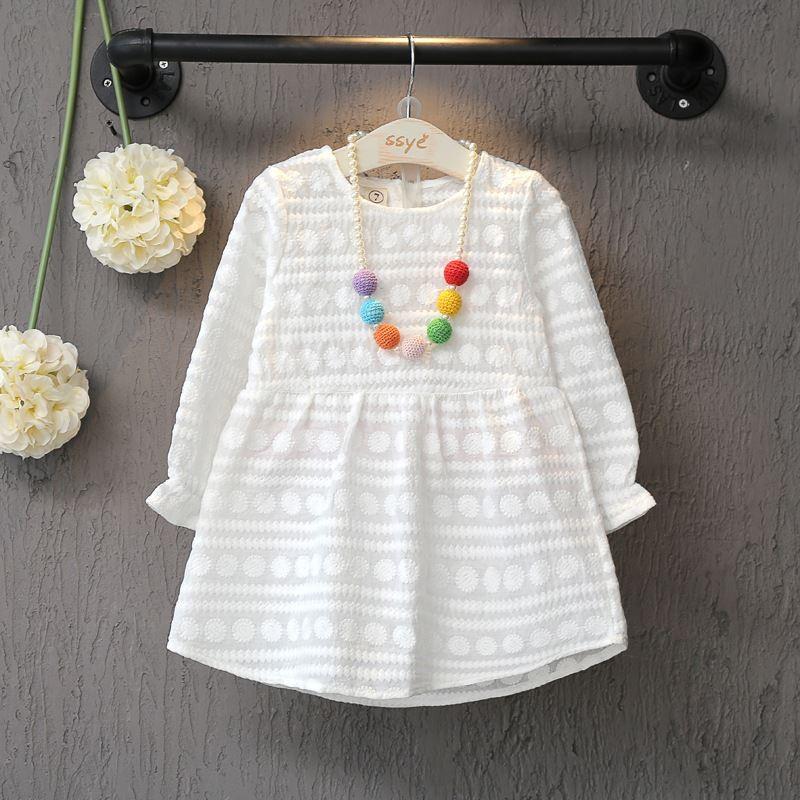 ~惡魔公主BG CH001 ~( )春 長袖 刺繡氣質公主小女童洋裝連身裙