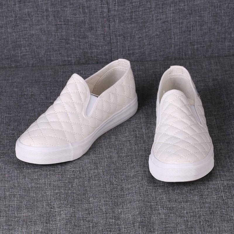 女松糕鞋女帆布鞋女內增高鞋旅遊鞋小白鞋休閒鞋板鞋單鞋 鞋樂福鞋增高鞋純色帆布鞋女2016