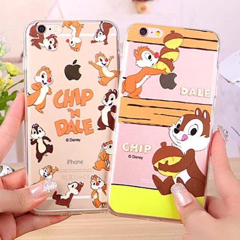 迪士尼系列之奇奇蒂蒂iphone6 6plus iphone7 7plus 手機保護套手機