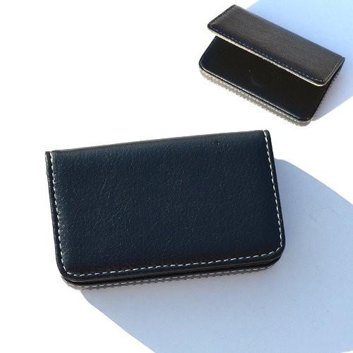 ~1 0223 ~低調款皮格輕量手感名片夾名片盒黑色