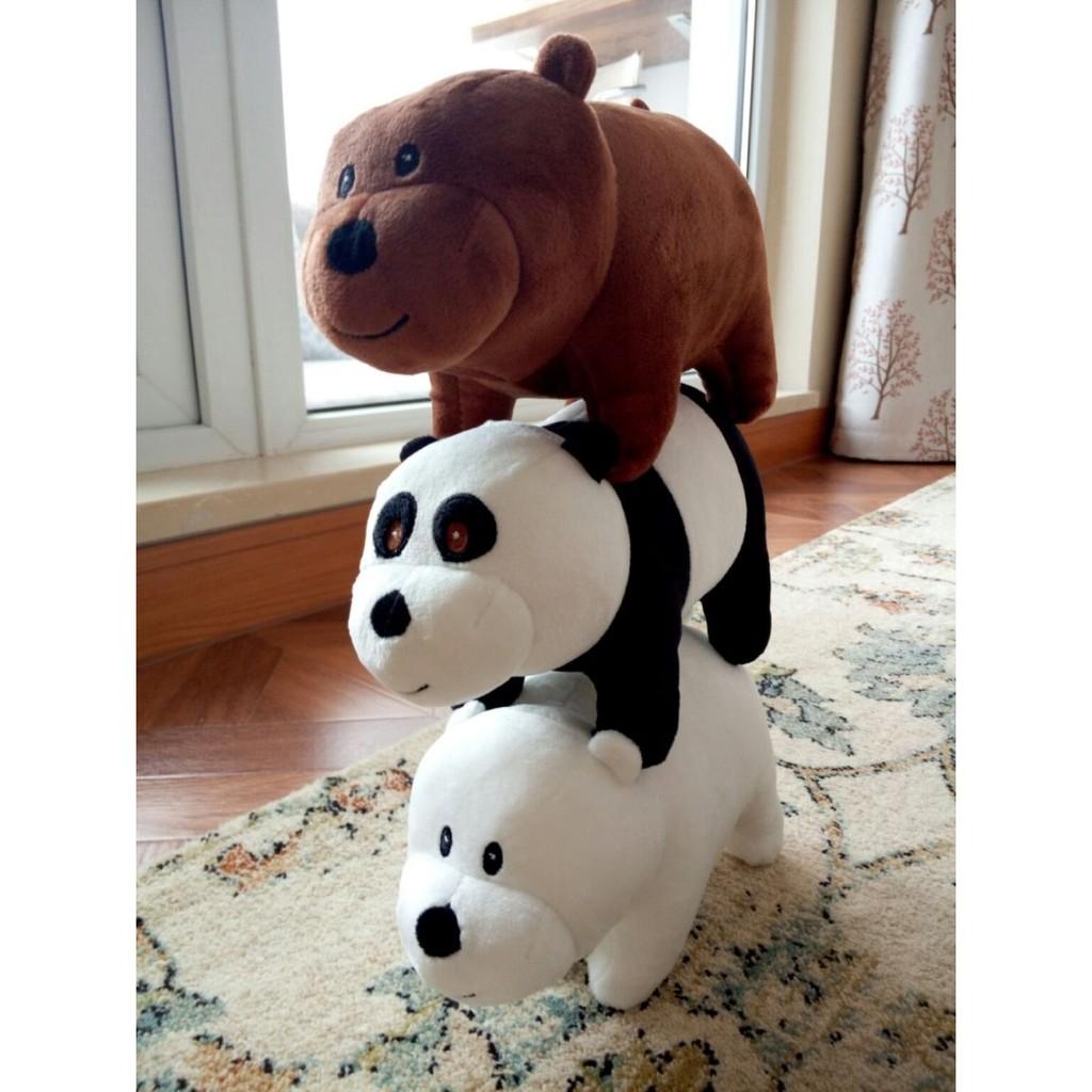 we bare bears 公仔熊熊遇見你Ice Bear Grizzly Panda