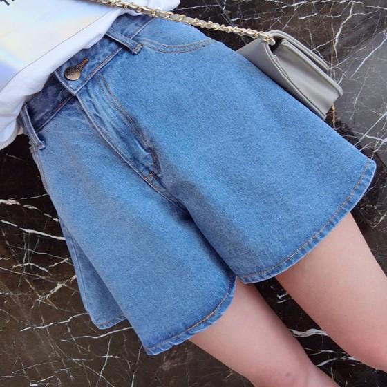 NY 寬鬆高腰半身裙褲牛仔短褲裙~S /M /L ~A 1109 ~