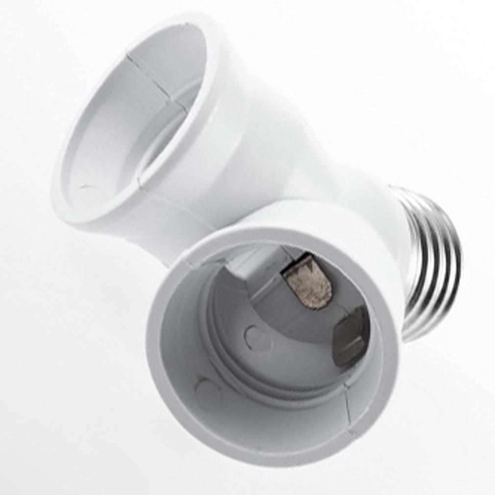 E27 到2 E27 LED Y 型鹵素燈泡分配器轉接頭