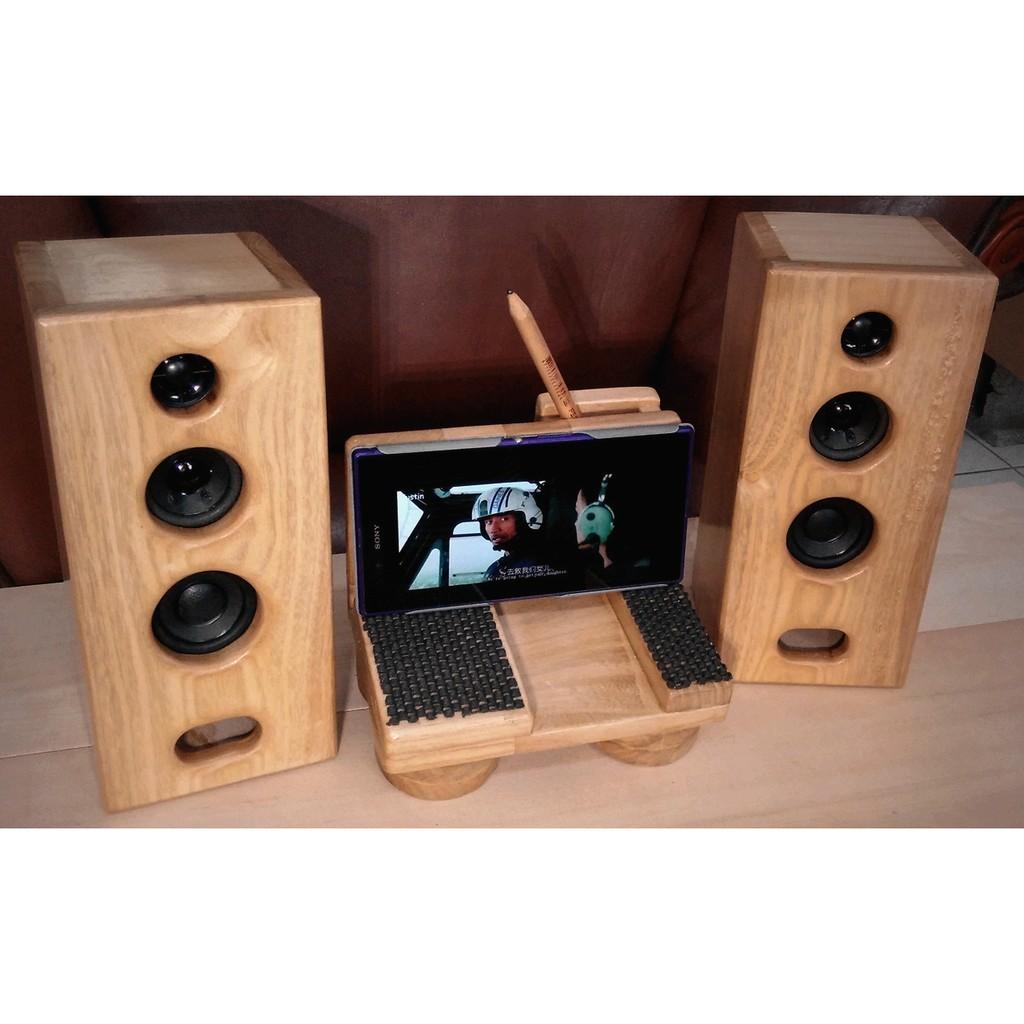 製2 吋3 音路原木音箱書架喇叭實木喇叭非BOSE JBL ALTEC