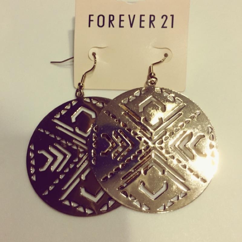 Forever21 金色波西米亞風耳環