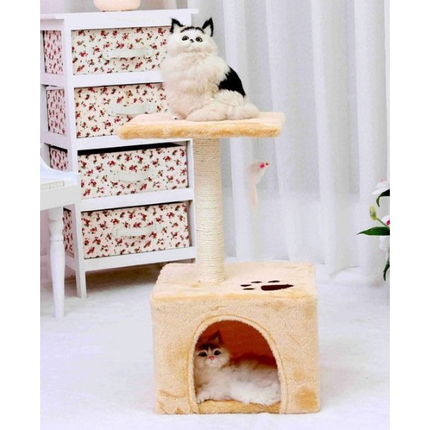 ►OS 屋貓咪 小屋貓跳台貓抓架下層貓貓休息屋貓遊樂玩具貓跳台貓柱貓架貓爬架貓樹