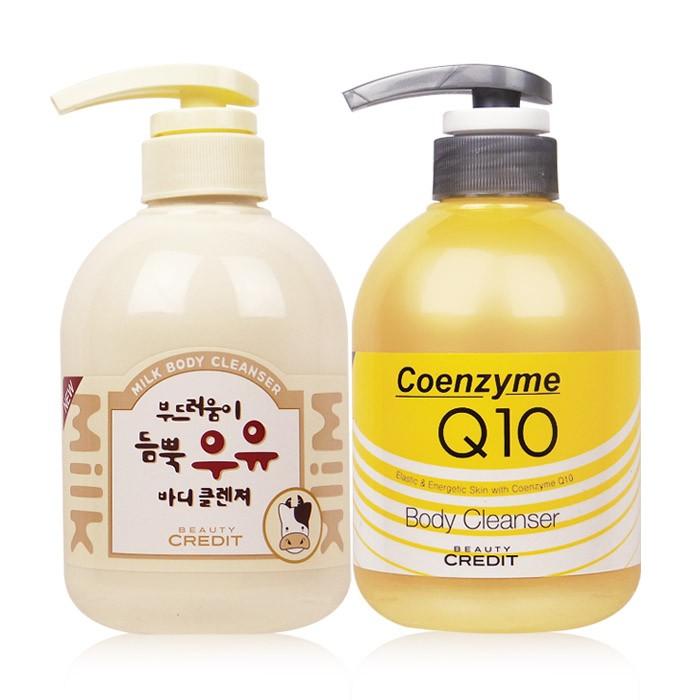 ◆86 小舖◆韓國Beauty Credit 沐浴乳Q10 彈力保濕牛奶嫩白500mL 【
