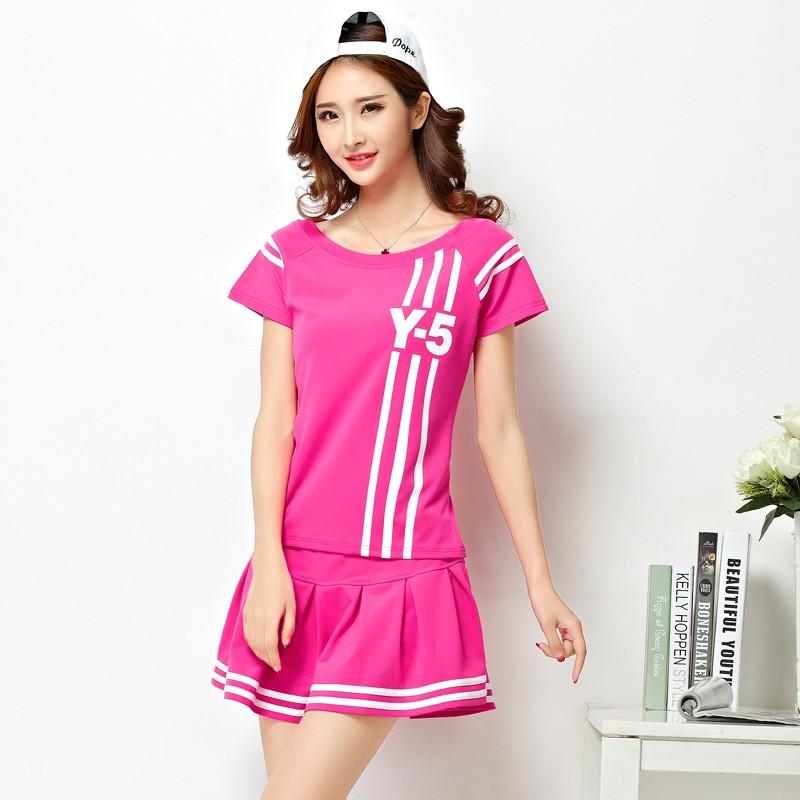 ~韓火衣品~3589  短袖短裙女士網球裙褲裙 裙羽毛球服 套裝