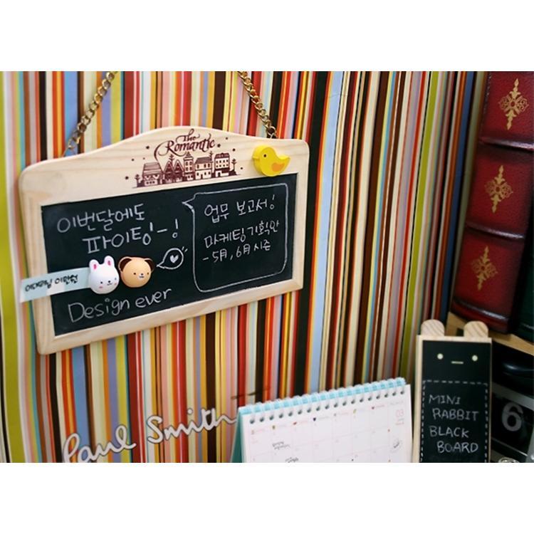田園風原木帶鍊可掛式磁性兩用黑板白板zakka 雜貨留言板拍照背景附粉筆板擦磁鐵白板筆