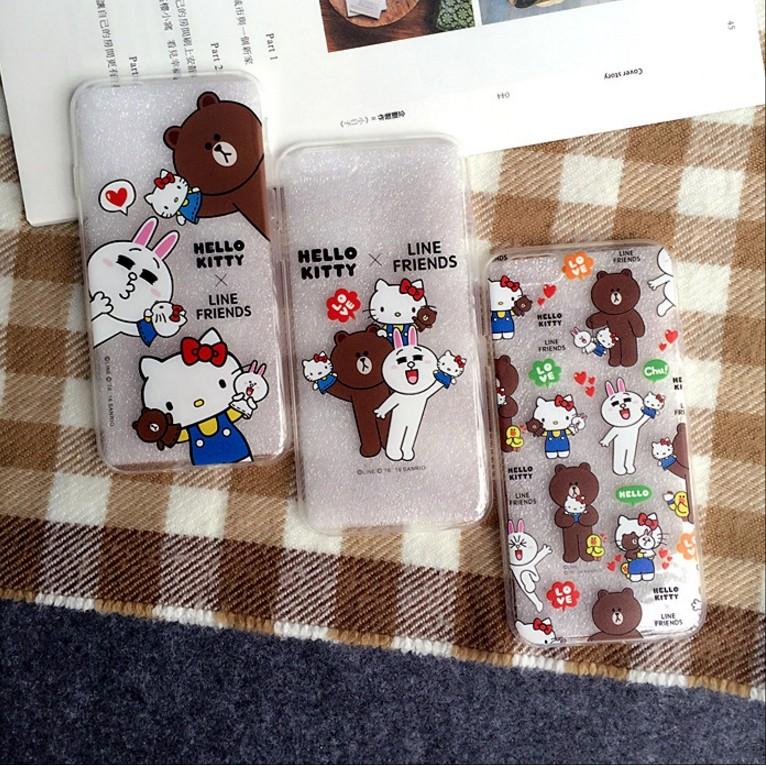 Hello Kitty 熊大兔兔TPU 軟殼手機殼軟套iphone 6 6 6s plus