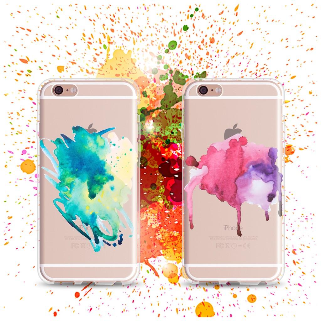水彩噴墨手機殼IPhone6 4 7 5 5