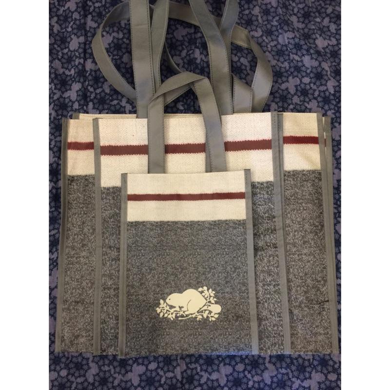 加拿大品牌~ROOTS ~VIP 會員專屬 袋[小、中、大]灰芝麻海狸兒童節連假限定十個小