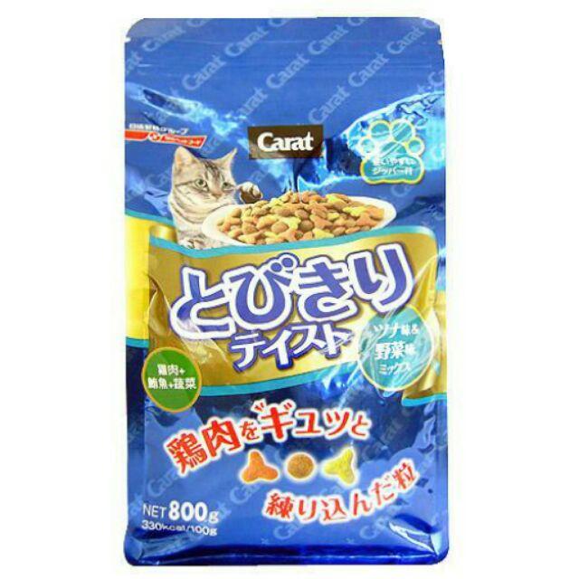 效期2018 7 月Carat 日清海陸系列貓飼料雞肉鮪魚蔬菜800g