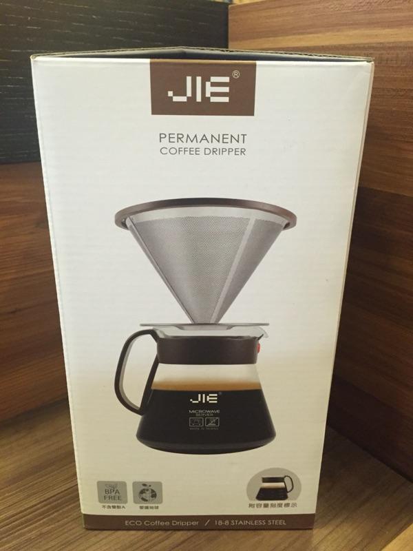 ~伍零貳號~免 JIE 繽紛咖啡濾杯組雙層304 不銹鋼濾網承架 600cc 玻璃壺Dri