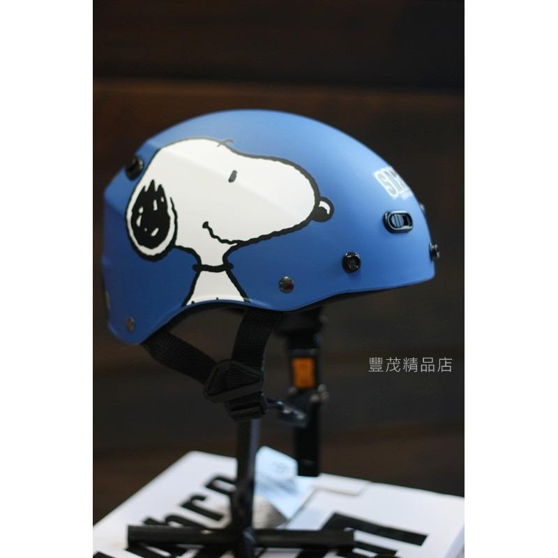 SNOOPY 史奴比雪帽半罩安全帽~含鏡K825 藍色SNOOPY ~豐茂~