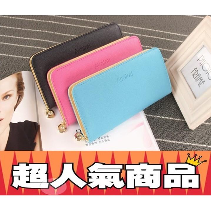 2016  糖果色長夾長皮夾皮包錢包手拿包手機包卡包零錢包包包